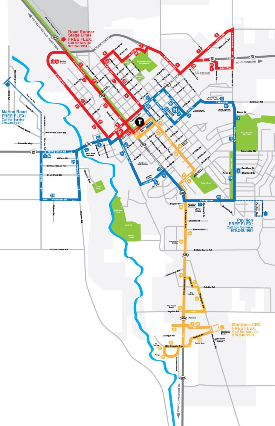 Montrose Flex Routes Schedule All Points Transit - Transit map