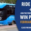 New Routes + Ride for Free Feb. 13-28th